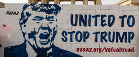 """Berlin United against Trump"" by Avaaz is licensed under CC BY 2.0"
