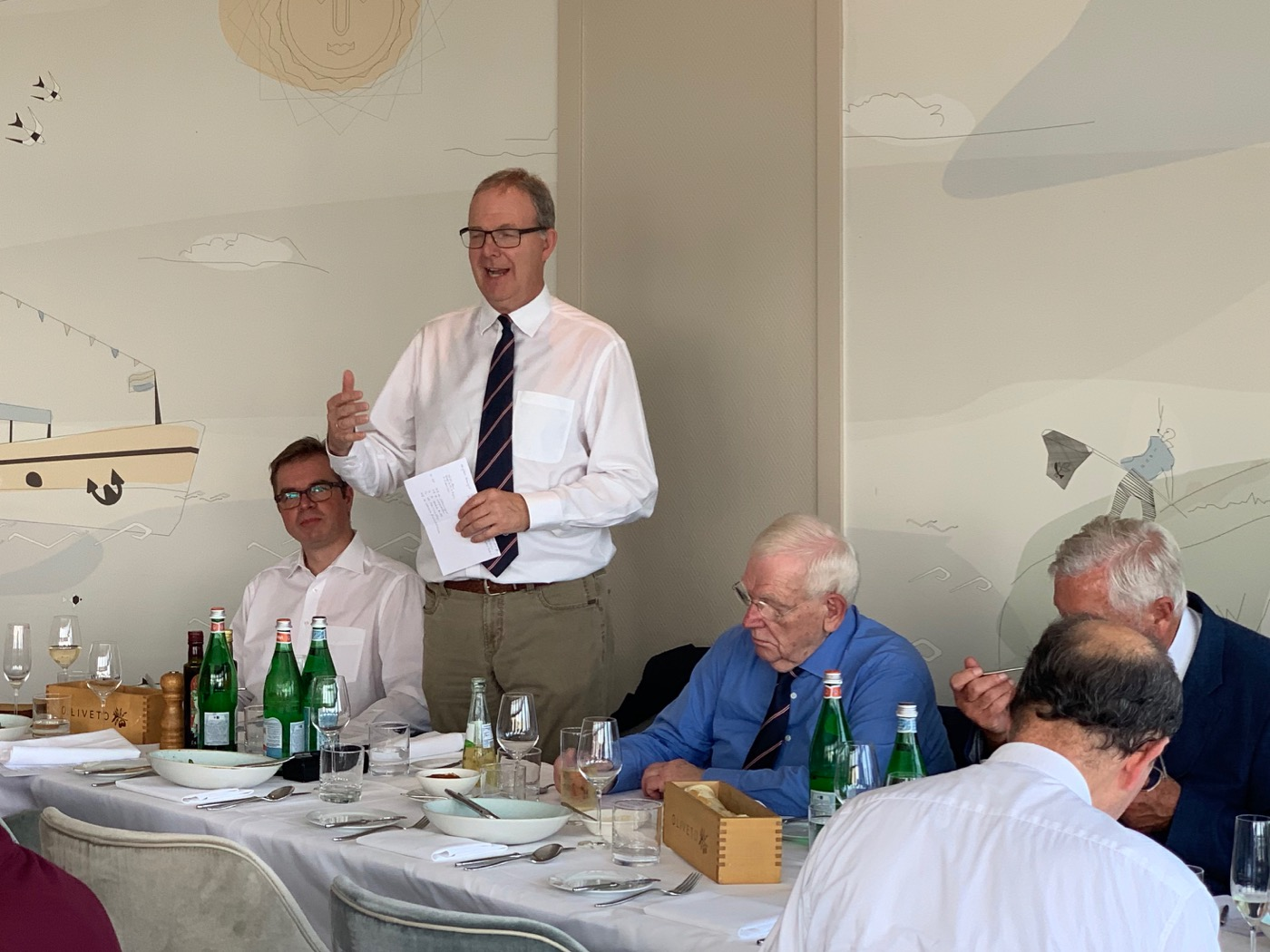 Foto: Axel Voss beim MAC Bonn Summer Lunch
